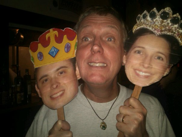 "Rob with the ""King and Queen"" of Bikeus 2011"